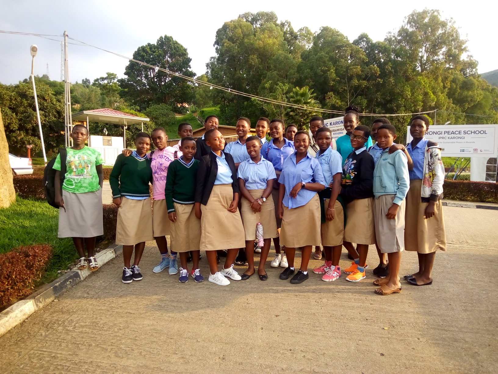 Young women who participated in Their Voice Foundation's Youth Table program in Karongi district, Western Province